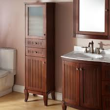Black Bathroom Storage Tower by Bathroom Retro Black Painted Pine Wood Bath Cabinet With Frosted