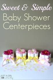 babyshower decorations sweet and simple baby shower centerpieces just a girl and