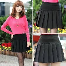 Wool Skirts For Winter 2017 2016 New Women Vintage Winter Wool Mini Skirt Uniform