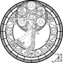 stained glass zelda coloring page by akili amethyst colour me