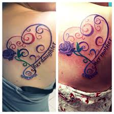 mother daughter tattoos they are actually the same colors the
