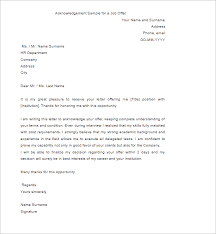 company offer letter template 40 free acknowledgement letter templates pdf sample formats