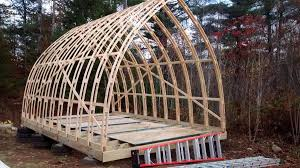 arched cabins hoop quonset hut type building for temporary living structure