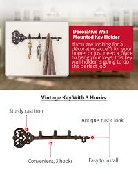 Key Holder Wall by Amazon Com Decorative Wall Mounted Key Holder Vintage Key With