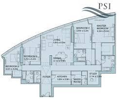 floor plans of sky tower units al reem island 4 1 bedroom type a2396