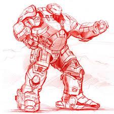 ironman hulkbuster sketch on behance