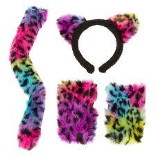 3 piece rainbow cat halloween costume set claire u0027s us