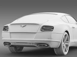 white bentley 2017 3d model bentley continental gt 2017 cgtrader