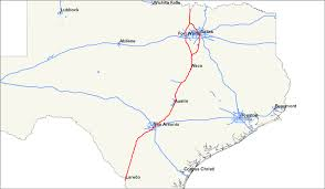 Dallas On Map by Interstate 35 In Texas Wikipedia