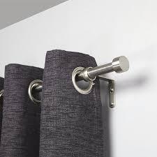 amazon com umbra cappa brushed nickel curtain rod u2013 modern