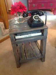 Diy Reclaimed Wood Side Table by Best 25 Barnwood Coffee Table Ideas Only On Pinterest Dark Wood