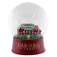 harvard johnston gate large snow globe