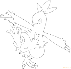 combusken pokemon coloring free coloring pages