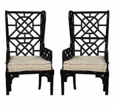 Wing Back Armchairs Bamboo Wing Back Chair Guild Master 659522pwmlb Shipping Included