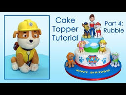 Paw Patrol Cake Toppers Part 4 Rubble Patrulla de cachorros