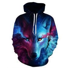 galaxy sweater 3d print space galaxy wolf graphics sweatshirt jacket pullover