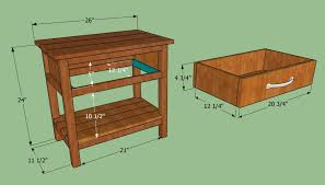 Building A Wood Desk by How To Build A Bedside Table Howtospecialist How To Build