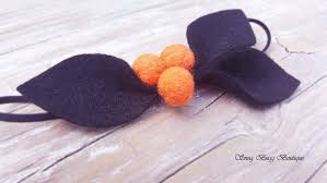 orange black headband felt headband octorber