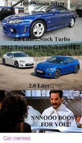Turbo Car Memes - 2000 nissan silvia tock turbo ite 2012 toyota gt86isubaru brzi 20