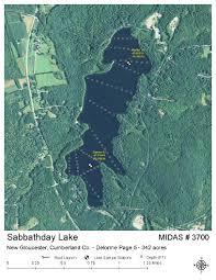 Cumberland Lake Map Lakes Of Maine Lake Overview Sabbathday Lake New Gloucester