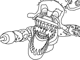 fnaf mangle coloring pages paint f naf foxy coloring pics of f naf pages freddys at five