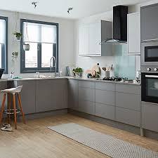 grey kitchen cabinets b q goodhome balsamita matt grey slab highline cabinet door w 300mm