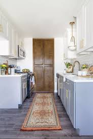 white cabinets on top blue on bottom 25 ways to style grey kitchen cabinets
