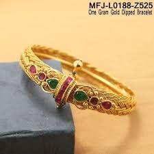 online bracelet images 1 gram gold dip ruby emerald stones designer bracelet buy online jpg