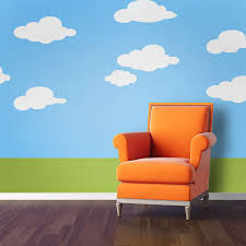 stencil kid u0027s walls beautifully and safe kids and baby design ideas