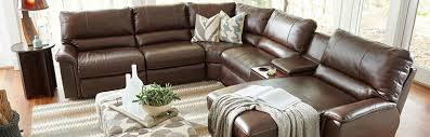 Brown Leather Sectional Sofas With Recliners Bedroom Dining U0026 Living Room Furniture La Z Boy Mattresses