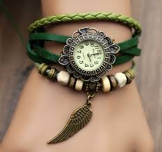 leather women bracelet images Vintage style leather strap watches woman girl quartz wrist watch jpg
