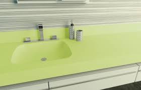 Corian Portland Oregon Dupont Corian In Lime Ice Illumination Series Bathroom