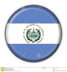 Salvadoran Flag El Salvador Button Flag Round Shape Stock Illustration Image
