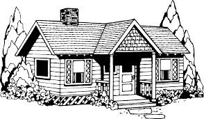 house black and white clipart free clipartfest