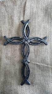horseshoe decorations for home horseshoe cross fish cross made in montana welding pinterest