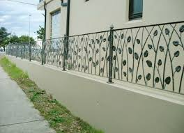 wrought iron fence on top of block wall search home