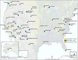 map us national parks map us national park system national park service us world