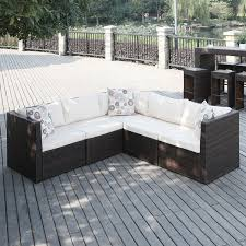 Patio Sofa Attractive L Shaped Patio Sofa Sectional Patio Sofas Loveseats