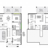 split level ranch house plans home architecture house plan the horizon split level floor plan