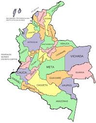 Map Of States With Capitals by Departments Of Colombia Wikipedia