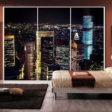stickers for glass doors yazi personalized size city night pvc wallpaper wall sticker