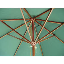 Wood Patio Umbrellas Eagle One 7 75 Ft Wood Patio Umbrella With Pulley Lift Fern