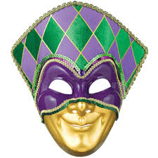 jester mask amscan green purple and gold plastic mardi gras jester mask