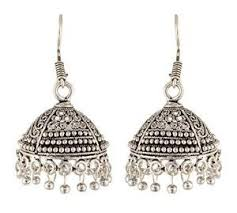 Buy Tribal German Silver Jhumka Jhumkas Earrings Yoana German Silver Oxidized Big Jhumki
