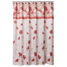 Pink Flower Shower Curtain Floral Shower Curtains Shower Accessories The Home Depot