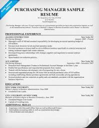 Sample Resume Manager purchasing manager resume resumecompanion com resume samples