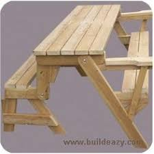 Folding Picnic Table Plans Folding Picnic Table To Bench Seat Free Plans How Awesome Is