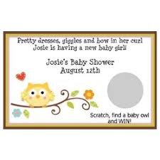 baby shower scratch personalized happi tree girl scratch baby shower