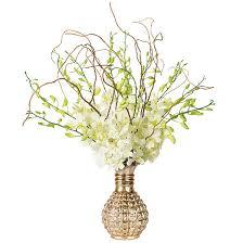 orchid bouquet white dendrobium orchid bouquet curly willow arrangements
