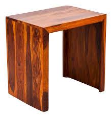 wood l timbertaste sheesham wood large size satin side table teak finish